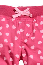 Pull-on trousers - Raspberry pink/Hearts - Kids | H&M CN 3