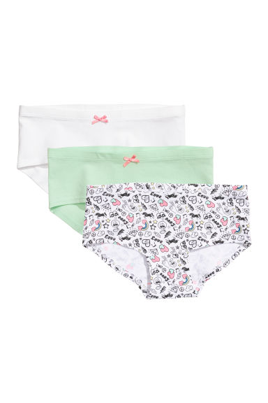 3-pack hipster briefs - White/Patterned - Kids | H&M CN