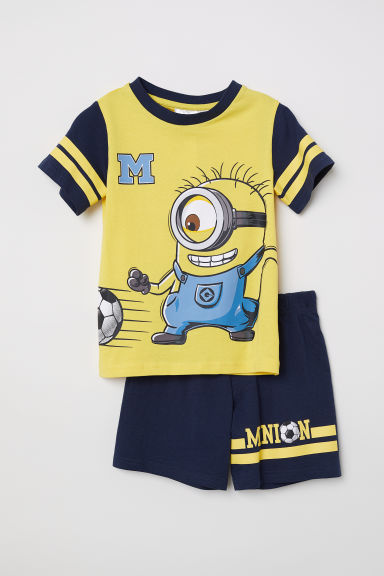 Printed pyjamas - Yellow/Minions - Kids | H&M CN