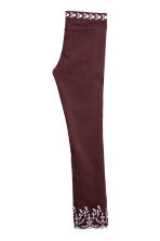 Embroidered trousers - Burgundy - Ladies | H&M CN 2