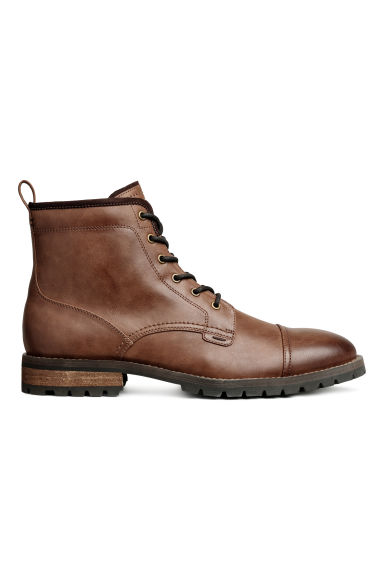 Chunky-soled boots - Cognac brown - Men | H&M
