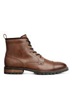 Chunky-soled boots - Cognac brown - Men | H&M 1