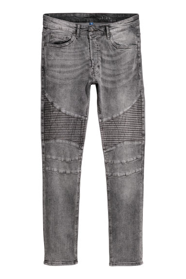Jeans stile biker - Grigio scuro/washed -  | H&M IT