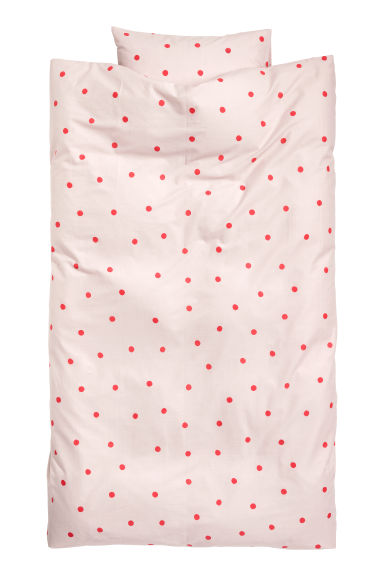 Spotted duvet cover set - Pink/Red spotted -  | H&M IE