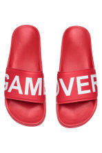 Badslippers - Felrood - HEREN | H&M BE 1