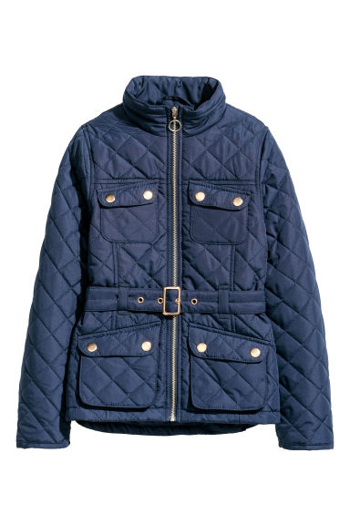 Quilted jacket - Dark blue - Kids | H&M