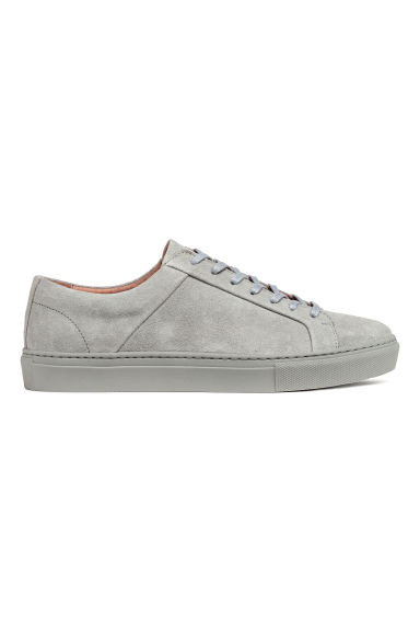 Leather trainers - Grey -  | H&M