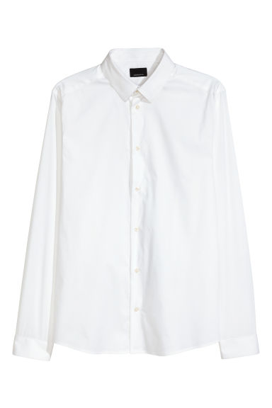 Shirt Super skinny fit - White - Men | H&M