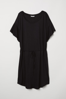 T-shirt dress with a tie belt