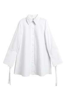 Wide-cut Cotton Shirt