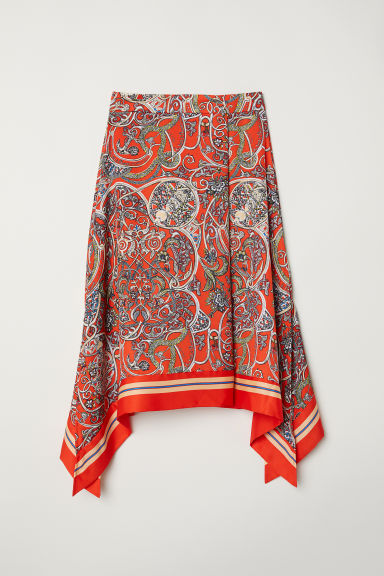 Patterned skirt - Bright red - Ladies | H&M