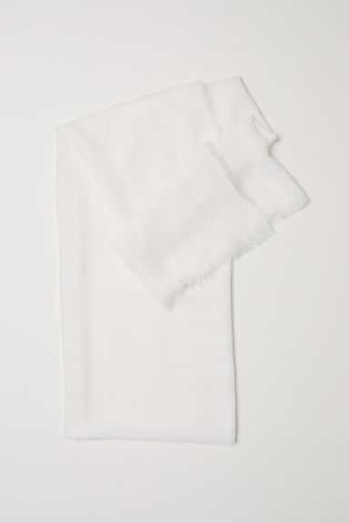 Scarf - White - Ladies | H&M CN