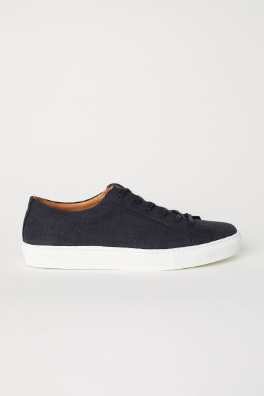 Sneakers in cotone e pelle - Nero - UOMO | H&M IT