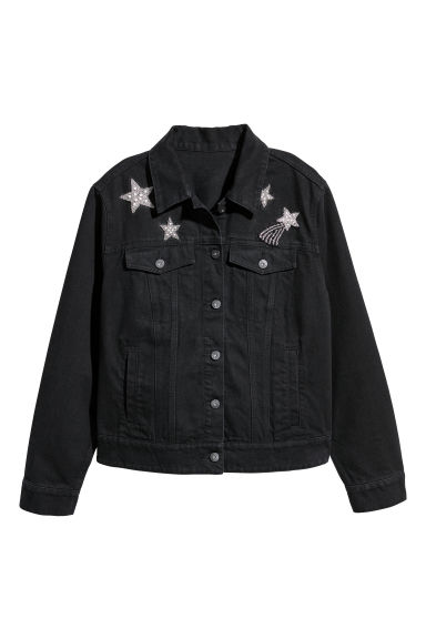 H&M+ Denim jacket - Black - Ladies | H&M