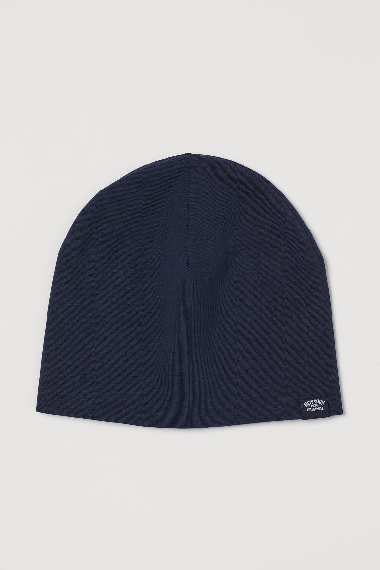 Cotton jersey hat - Dark blue - Kids | H&M GB