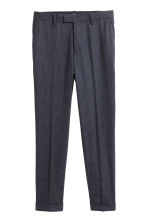 Checked suit trousers Slim fit - Dark blue/Grey checked - Men | H&M CN 2