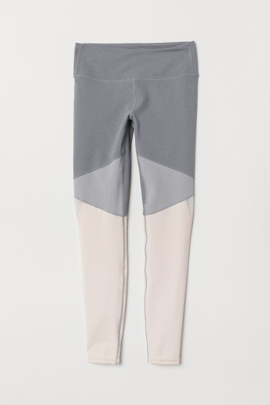 Yoga tights Shaping Waist - Grey - Ladies | H&M CN