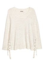 H&M+ Knitted jumper - White marl - Ladies | H&M IE 2