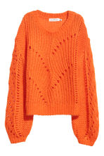 Knitted mohair-blend jumper - Orange - Ladies | H&M 2