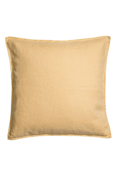Washed linen cushion cover - Light yellow - Home All | H&M GB
