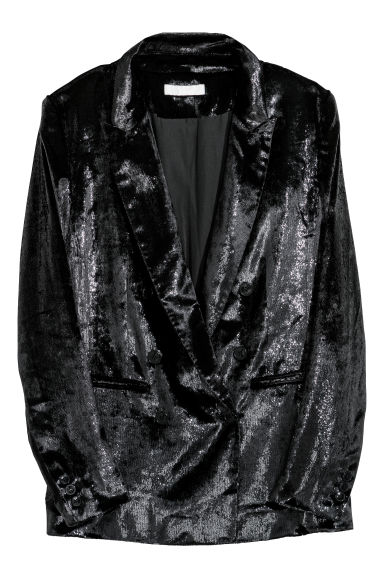 Double-breasted jacket - Black - Ladies | H&M IE 1