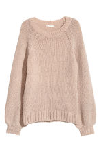 Glittery jumper - Powder pink/Glittery - Ladies | H&M GB 2