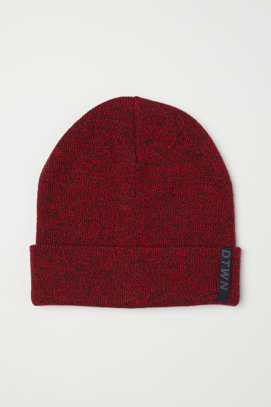 Knitted hat - Red marl - Kids | H&M CN