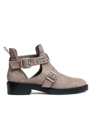 Cut-out ankle boots - Mole/Imitation suede - Ladies | H&M