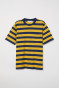 Yellow/Dark blue stripe