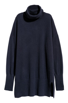 Cashmere polo-neck jumper