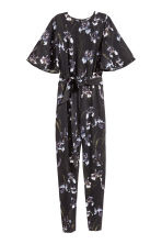 Jumpsuit - Black/Floral - Ladies | H&M CN 2