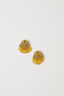 Earrings with sparkly stones