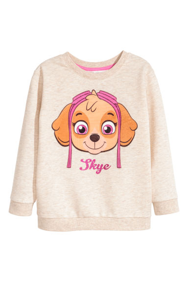 Printed sweatshirt - Light beige/Paw Patrol -  | H&M CN