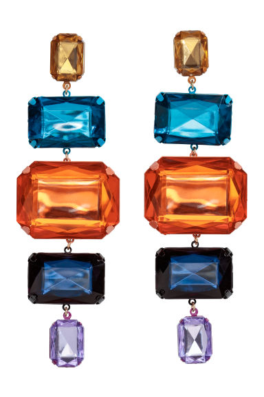 Grandes boucles d'oreilles - Orange/multicolore - FEMME | H&M FR
