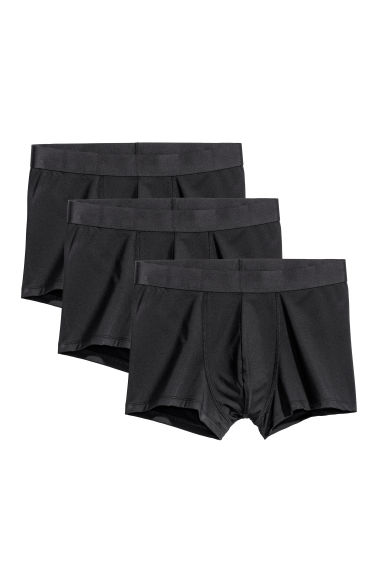 3-pack microfibre boxer shorts - Black -  | H&M