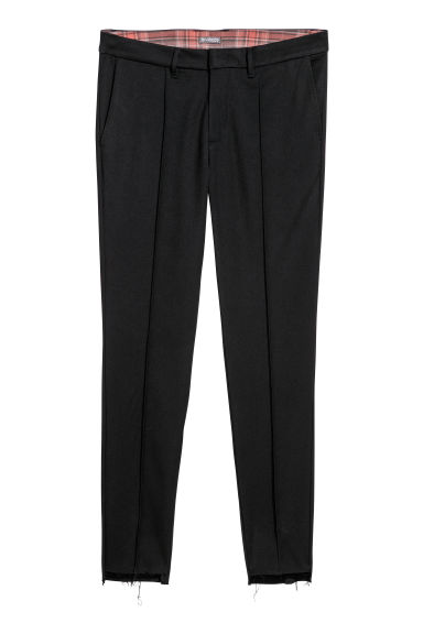Twill suit trousers - Black - Men | H&M
