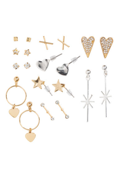 10 pairs earrings - Gold-coloured - Ladies | H&M GB