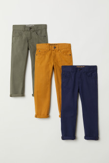 3-pack Twill Pants