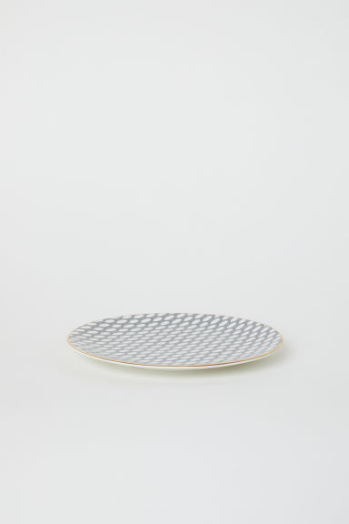 Porcelain dish - White/Arch-patterned - Home All | H&M CN