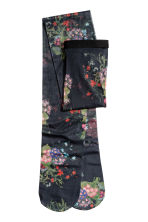 Floral tights - Black/Floral - Ladies | H&M IE 1