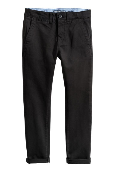 Slim Fit Chinos - Svart - BARN | H&M SE