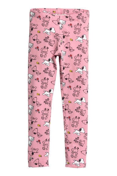 Leggings in jersey - Rosa vintage/Snoopy -  | H&M CH