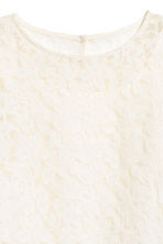 Trumpet-sleeved blouse - White/Lace - Kids | H&M CN 3