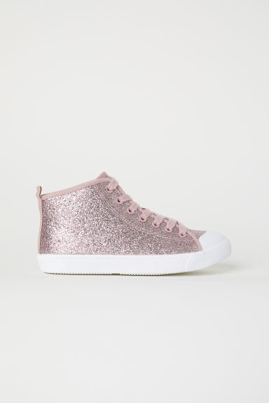Hi-top trainers - Pink/Glittery - Kids | H&M CN