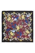 Floral silk scarf - Burgundy/Floral - Ladies | H&M 1