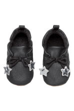 Terry-lined slippers - Black - Kids | H&M CN 1