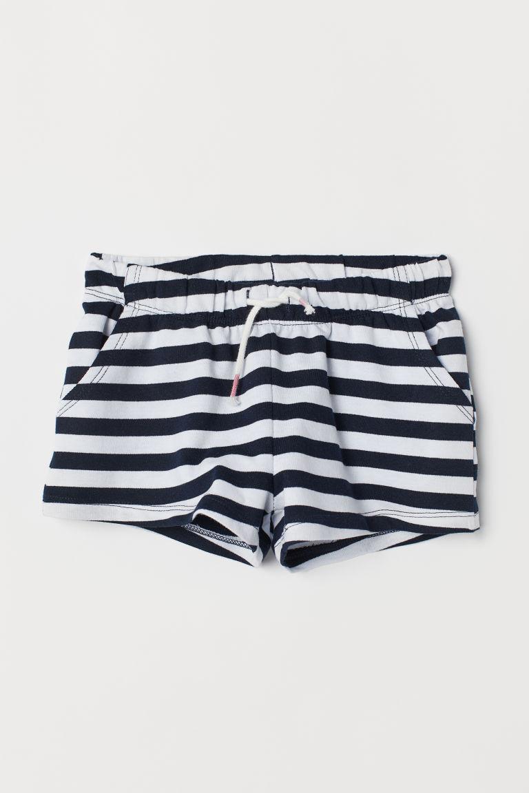 Jersey shorts - White/Blue striped - Kids | H&M GB