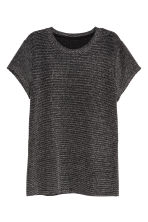 H&M+ Glittery jersey top - Black/Glittery - Ladies | H&M IE 1
