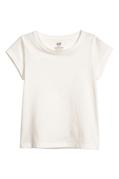 Jersey top - White - Kids | H&M CN