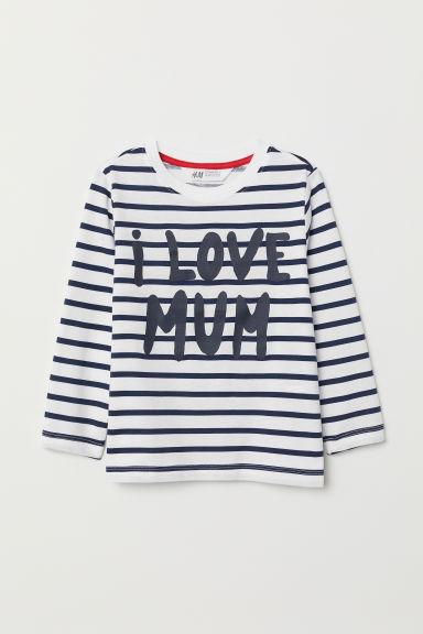 Sibling top - White/Mum - Kids | H&M GB